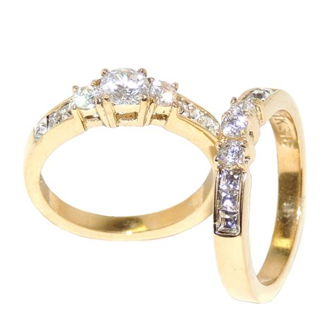 engagement rings for women gold engagement rings sets for women gold ion plated