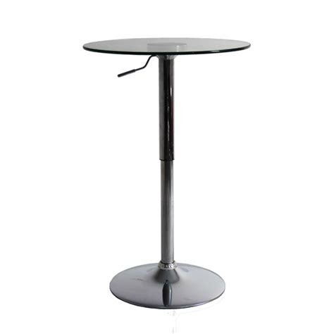Glass Bistro Table Glass Bar Table Modern Furniture Brickell Collection