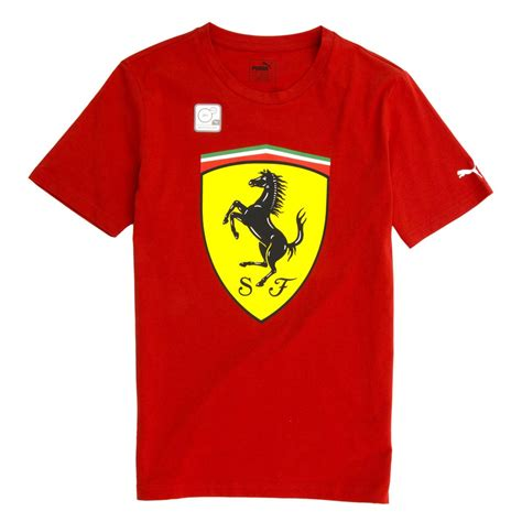 Ferrari Logo Font by Ferrari Logo T Shirt By Puma Brand Red 762139 01
