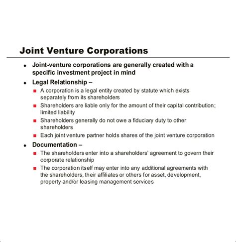 joint venture agreement template doc partnership agreement template 11 free word pdf