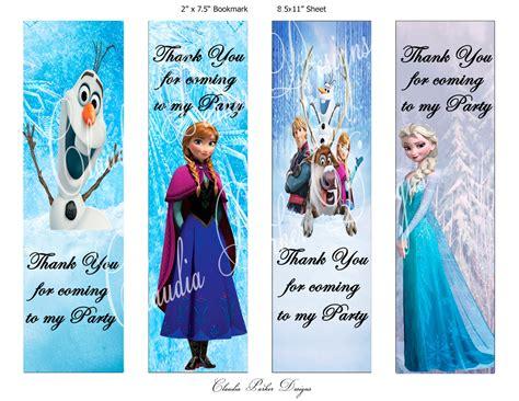 printable frozen bookmarks frozen book marks diy printable thank you party favors