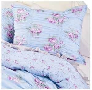 buy simply shabby chic ruched blue duvet cover set twin bedding ruffled sham set in cheap