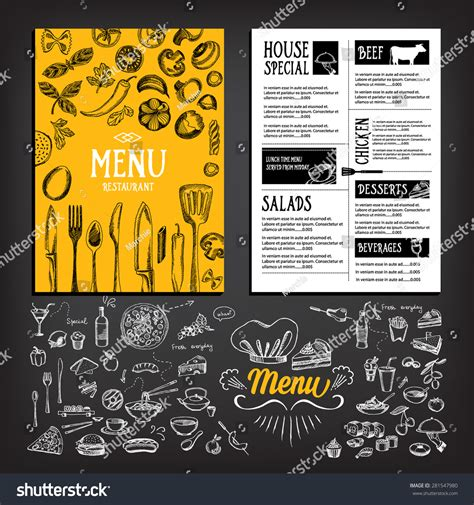 Cafe Brochure Design by Cafe Menu Restaurant Brochure Food Design Stock Vector