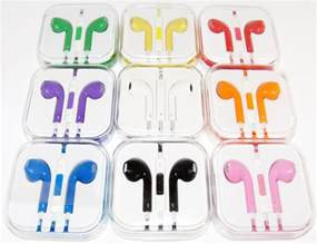 colored apple earbuds new earphone earpods headset with remote mic for apple