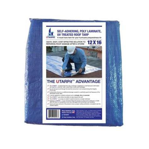 utarpit 12 ft x 16 ft blue roofing tarp bt1216 the