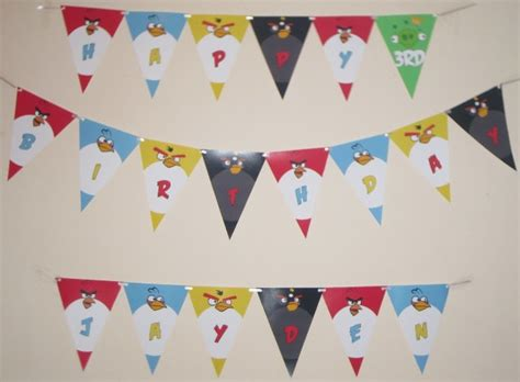 printable angry birds happy birthday banner happy birthday pennant banner gallery