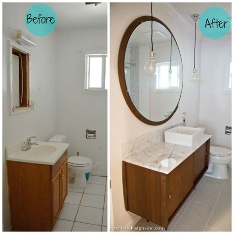 bathrooms before and after mid century modern bathroom vanity 2017 with cretive