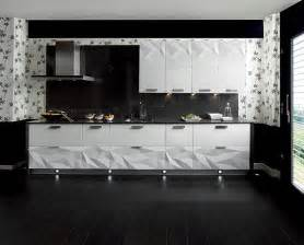 Black Kitchen Backsplash by Gloss White Kitchen Black Backsplash Interior Design Ideas