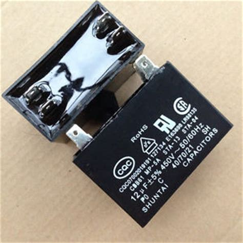 test ac blower motor capacitor 1lot 2pcs shuntai cbb61 450v 12uf 85c air conditioning fan blower capacitor cap ebay