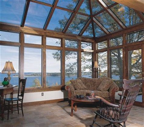 Wooden Sunroom Wood Sunroom With Glass Roof Guest Room Addition