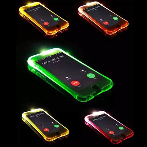 Led For Iphone 6led Lighting Iphone 6 led flash phone for iphone 6 7 plus light flash calling notice back cover for iphone 6 6s