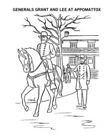 civil war coloring pages general surrenders coloring page