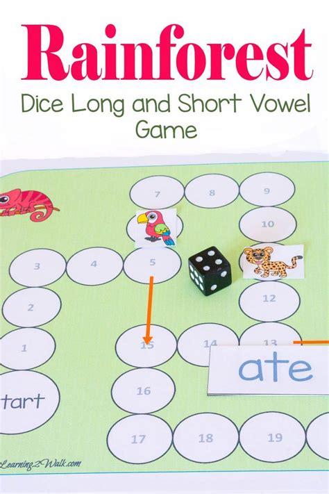 printable vowel dice 620 best images about free printable worksheets on pinterest