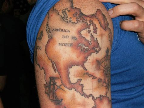 world map tattoo the coolest world map tattoos