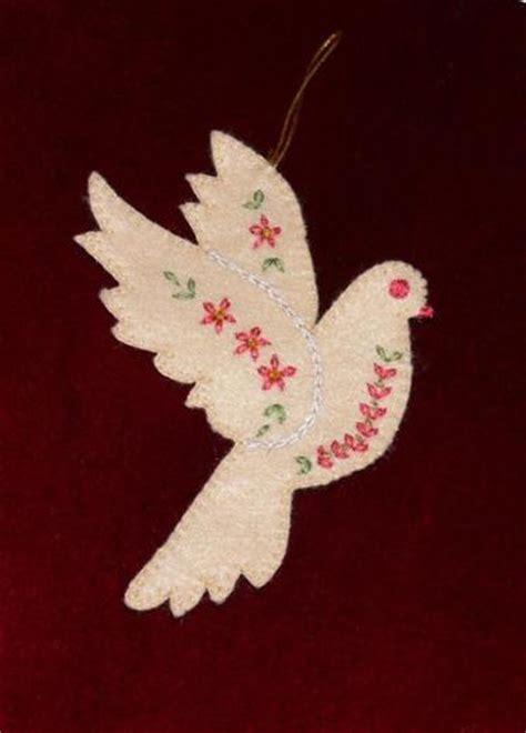 felt bird template christmas ornament craftsy