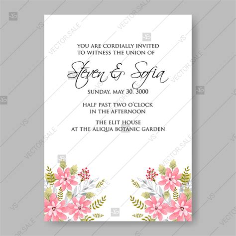 Clark Mothers Day Card Templates by Pink Hanami Wedding Invitation Vector