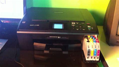 reset impressora brother dcp j125 tintascontinuas impresora brother dcp j125 youtube