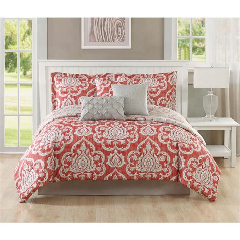 coral queen comforter sets studio 17 dorian coral taupe 7 piece full queen comforter