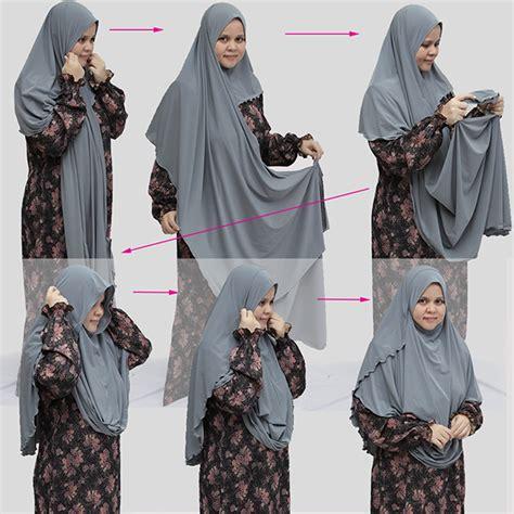 tutorial pashmina labuh depan belakang shawl labuh lycra 2 muka 2 loops labuh depan belakang