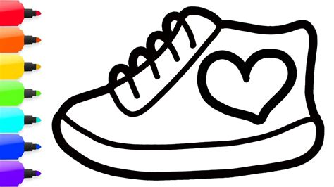 coloring shoes coloring 8 shoes paint for toddlers and drawing for