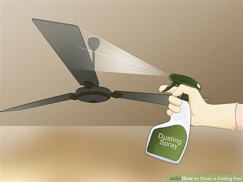 how to clean ceiling fans 3 ways to clean a ceiling fan wikihow