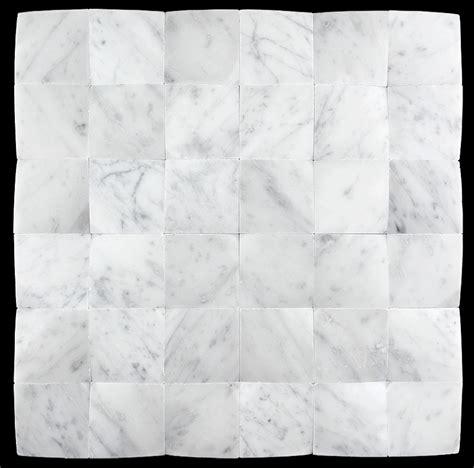 carrara white marble 2x2 beveled mosaic
