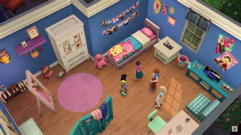 bedroom for 4 kids the sims 4 kids room stuff pack