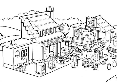 my town coloring page coloring pages