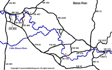 blanco texas map texas flyfishing