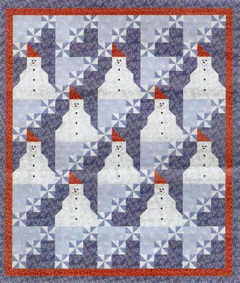 quilt inspiration free pattern day snowflake and snowman