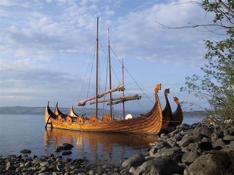 viking long boats dragon prowed norse longboats vikings pinterest