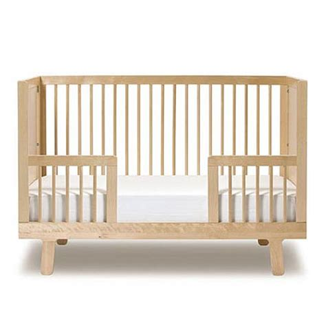Baby Crib To Bed Sparrow Crib Toddler Bed Conversion Kit In Birch And Luxury Baby Cribs In Baby Furniture