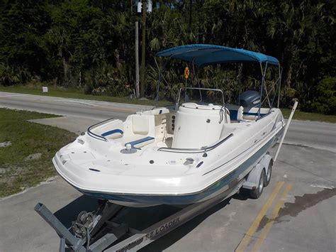 deck boat with center console hurricane sd 231 center console fun deck sport party boat
