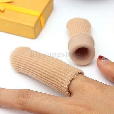 finger protector for knitting footful fabric cover ribbed knit gel finger toe cap