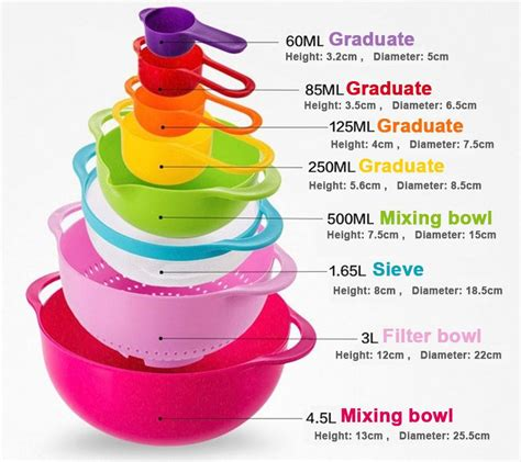Sendok Ukur Sendok Takar 6 In 1 mangkuk ukur 8 in 1 menakar bahan kue jadi lebih mudah