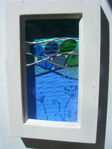 framed stained glass inspired by in cornwall