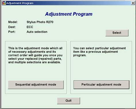 reset printer epson r270 epson r270 service adjustment program service manuals