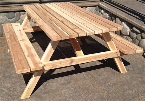 Wood Picnic Table Kit by Picnic Table Kit Cedar Wood Outdoor Living Today