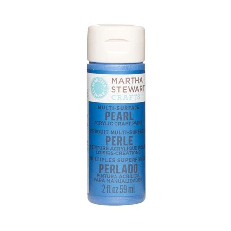 acrylic paint martha stewart martha stewart crafts 2 oz cornflower multi surface pearl