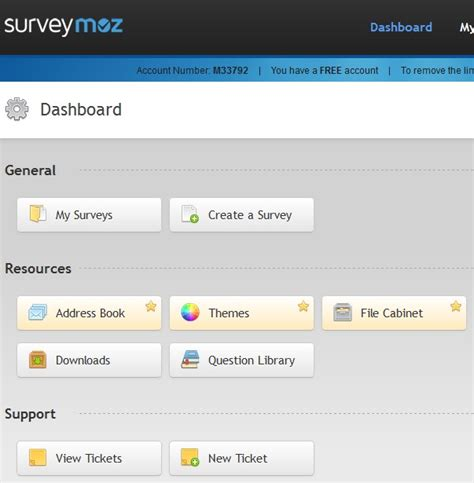 Free Online Survey Maker - surveymoz free online survey creator