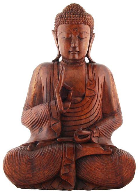 Buddhist Home Decor teaching thai buddha statue hand carved suar wood by
