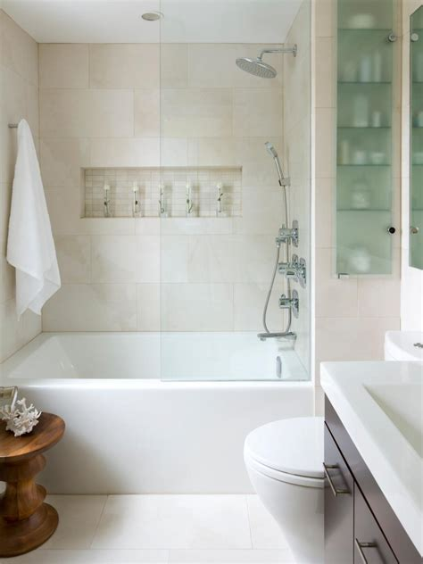 small bathrooms with shower 20 small bathroom design ideas hgtv