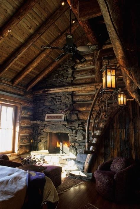 ladder rustic architecture warm interior design living vintage bedroom home rustic warm interior cabin house cozy