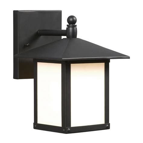 galaxy outdoor wall light shop galaxy 9 in h black outdoor wall light at lowes com
