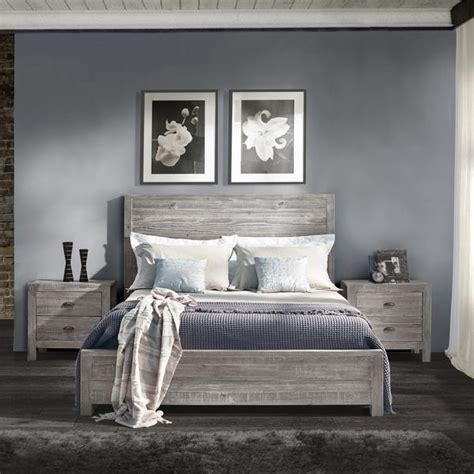 gray wood bed montauk full size solid wood bed grain wood furniture