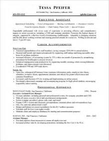 sample resume for senior administrative assistant