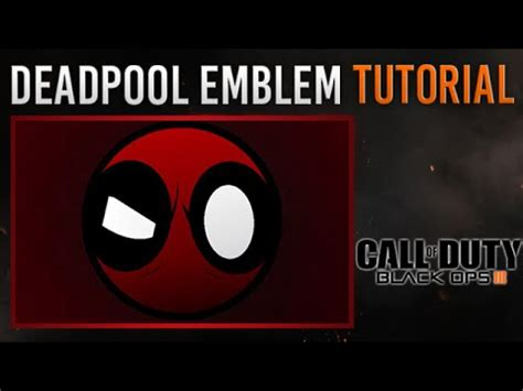 tutorial logo emblem black ops 3 cool easy deadpool emblem tutorial very