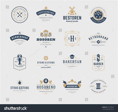 ketentuan layout element logo vintage logos design templates set vector stock vector