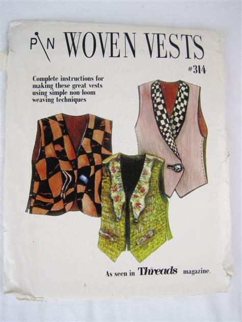 kimono encore pattern pin woven vests sewing pattern lois ericson and diane