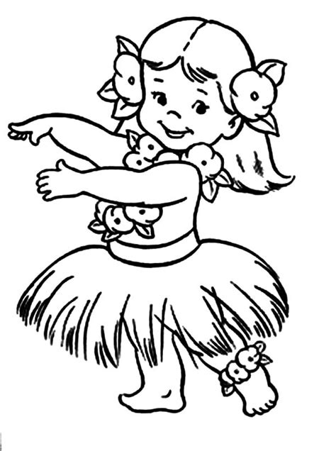 little chubby hula girl coloring pages coloring sky